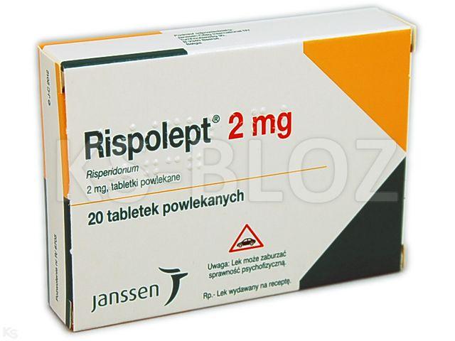 Rispolept interakcje ulotka tabletki powlekane 2 mg 20 tabl.