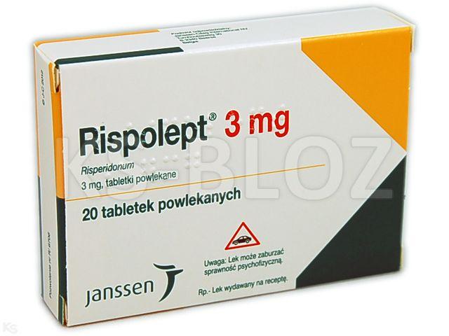 Rispolept interakcje ulotka tabletki powlekane 3 mg 20 tabl.