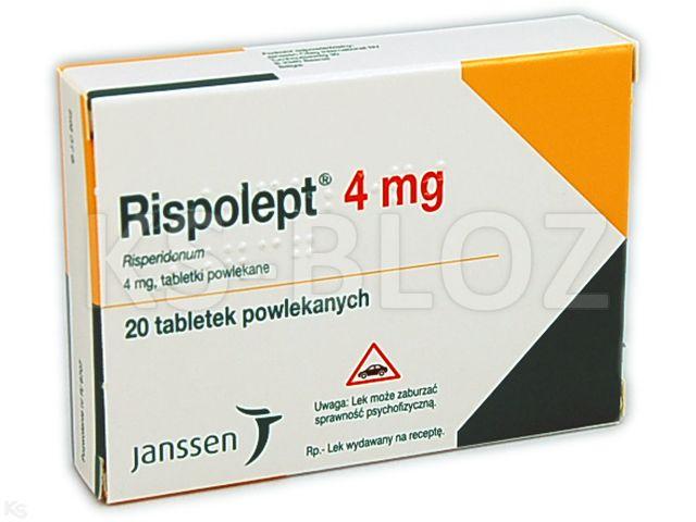 Rispolept interakcje ulotka tabletki powlekane 4 mg 20 tabl.