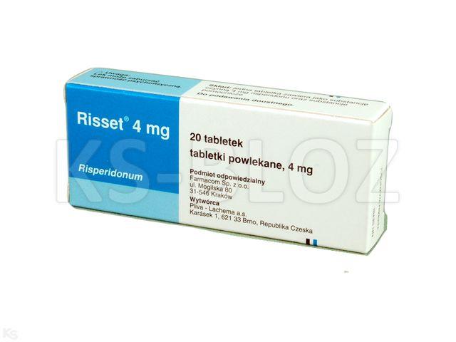Risset 4 interakcje ulotka tabletki powlekane 4 mg 20 tabl.   2 blist.po 10 szt.
