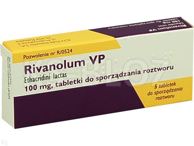 Rivanolum VP interakcje ulotka tabletki do sporządzania roztworu 0,1 g 5 tabl.