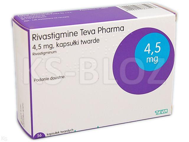 Rivastigmine Teva Pharma interakcje ulotka kapsułki twarde 4,5 mg 56 kaps.