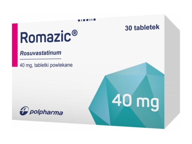 Romazic interakcje ulotka tabletki powlekane 0,04 g 30 tabl.