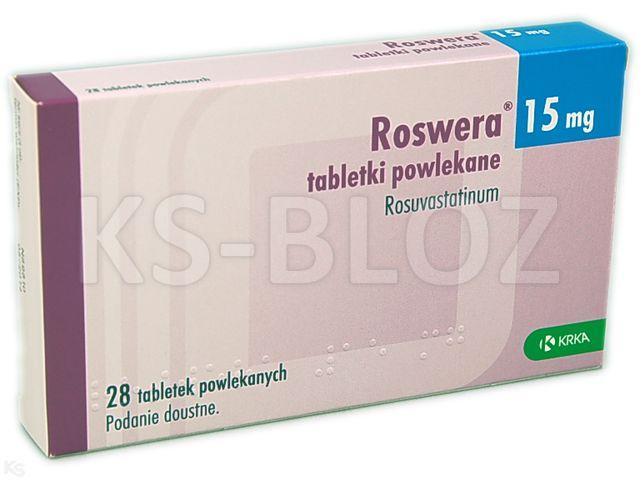 Roswera interakcje ulotka tabletki powlekane 0,015 g 28 tabl.
