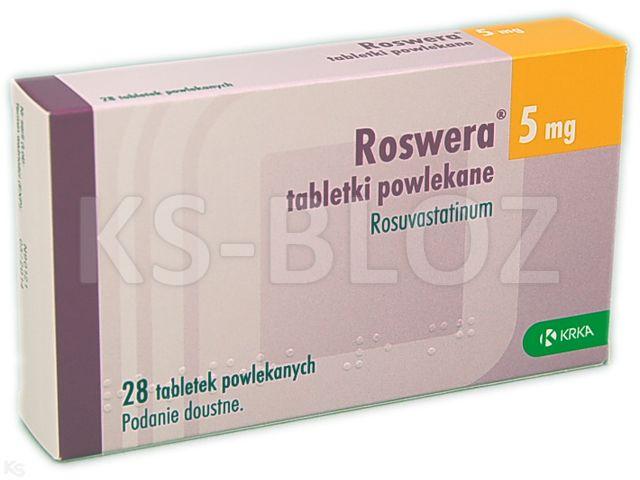 Roswera interakcje ulotka tabletki powlekane 5 mg 28 tabl.