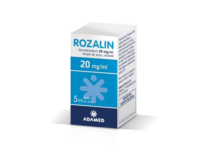 Rozalin interakcje ulotka krople do oczu 0,02 g/ml 5 ml | butelka