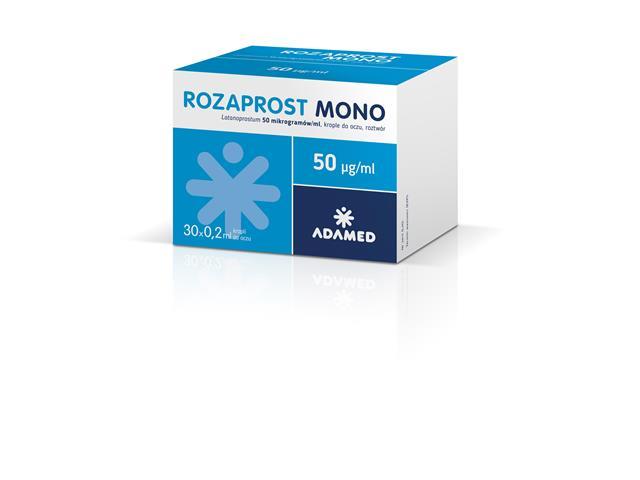 Rozaprost Mono interakcje ulotka krople do oczu, roztwór 0,05 mg/ml 30 poj. po 0.2 ml
