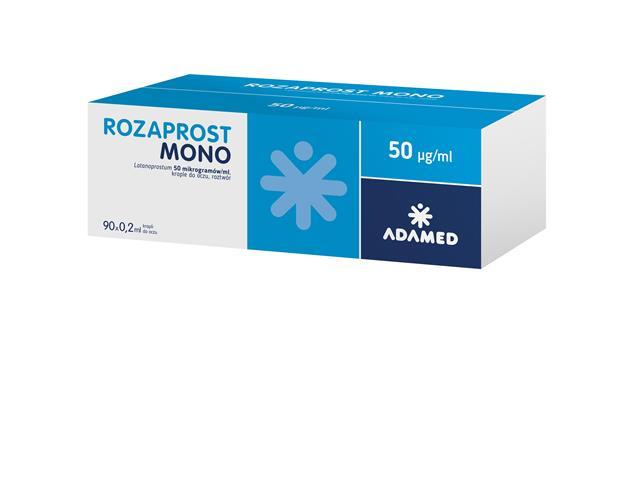 Rozaprost Mono interakcje ulotka krople do oczu, roztwór 0,05 mg/ml 90 poj. po 0.2 ml