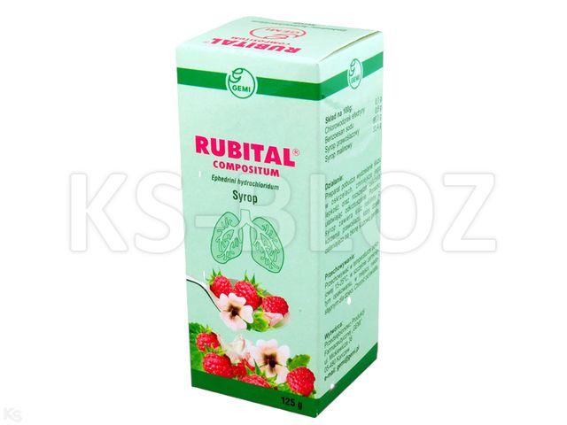 Rubital Compositum interakcje ulotka syrop 6,5 mg/5ml 125 g | butelka
