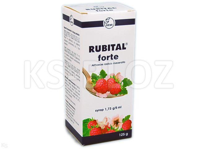 Rubital Forte interakcje ulotka syrop 1,73 g/5ml 125 g