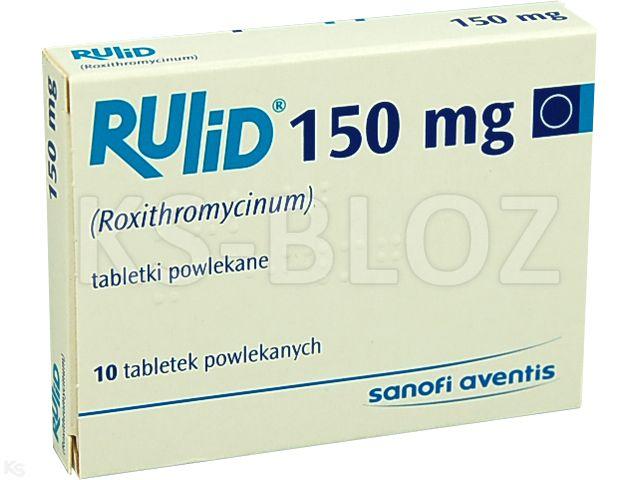 Rulid interakcje ulotka tabletki powlekane 0,15 g 10 tabl.