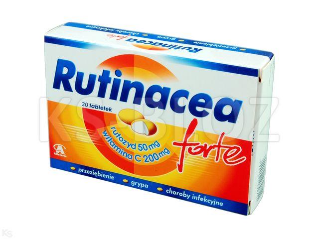 RutinaC forte interakcje ulotka tabletki drażowane 0,2g+0,05g 30 tabl.