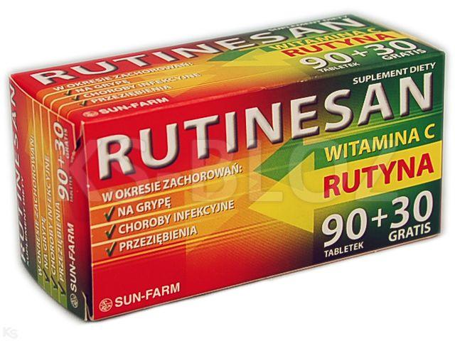 Rutinesan interakcje ulotka tabletki  120 tabl.