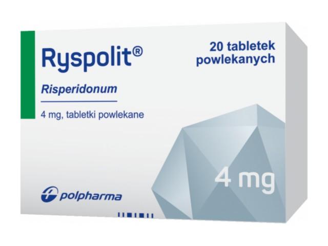 Ryspolit interakcje ulotka tabletki powlekane 4 mg 20 tabl.
