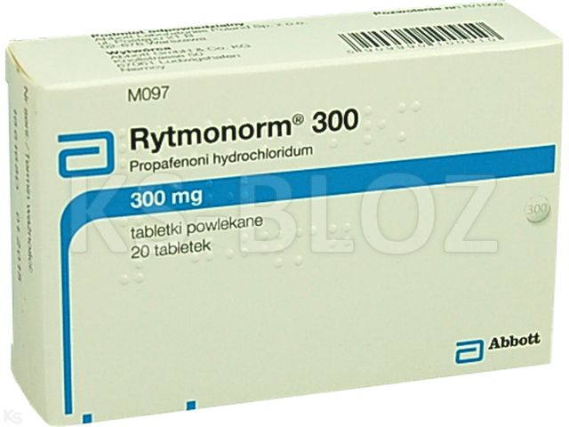 Rytmonorm 300 interakcje ulotka tabletki powlekane 0,3 g 20 tabl.