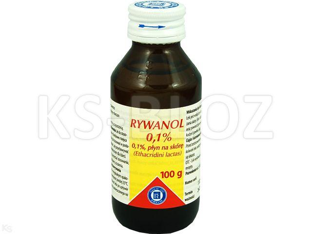 Rywanol 0,1% interakcje ulotka płyn do stosowania na skórę  100 g