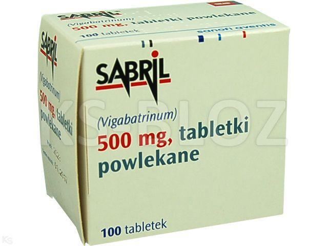 Sabril interakcje ulotka tabletki powlekane 0,5 g 100 tabl.