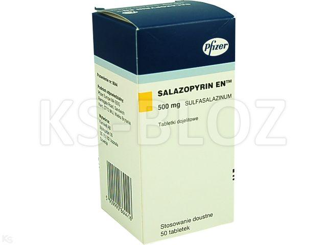 Salazopyrin EN interakcje ulotka tabletki dojelitowe 0,5 g 50 tabl.