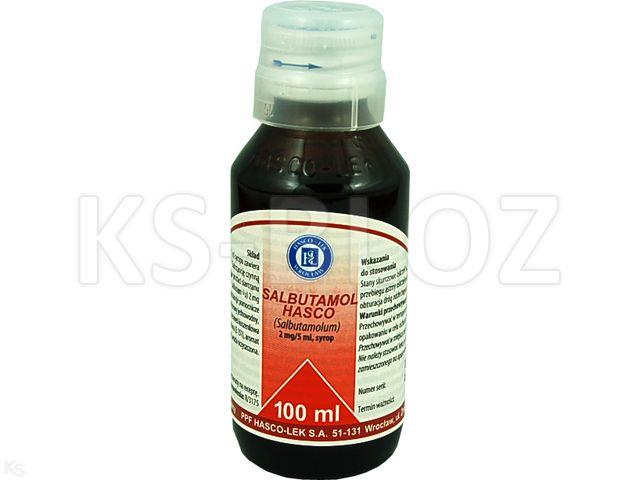 Salbutamol Hasco interakcje ulotka syrop 2 mg/5ml 100 ml