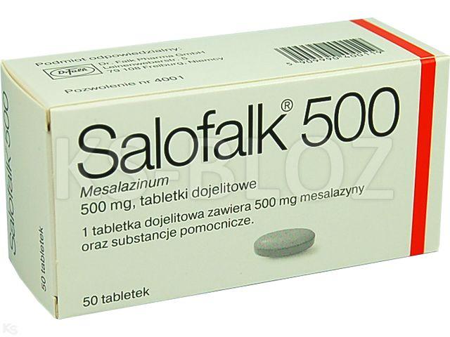 Salofalk 500 interakcje ulotka tabletki dojelitowe 0,5 g 50 tabl.