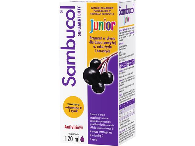 Sambucol Junior interakcje ulotka płyn  120 ml