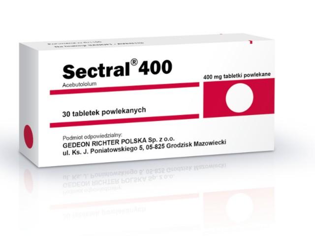Sectral 400 interakcje ulotka tabletki powlekane 0,4 g 30 tabl.