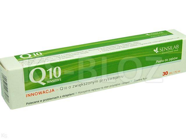 SENSILAB Q10 SENSITIVE Pasta d/zębów interakcje ulotka   100 g