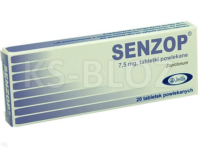 Senzop interakcje ulotka tabletki powlekane 7,5 mg 20 tabl.