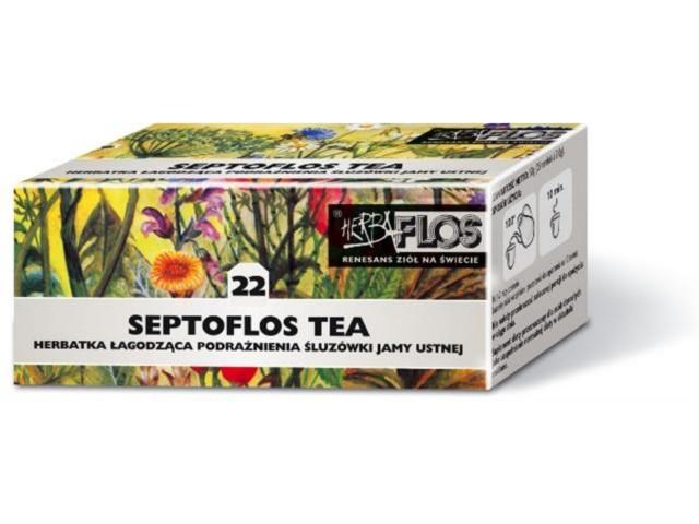Septoflos Tea interakcje ulotka zioła do zaparzania w saszetkach  25 toreb. po 2 g