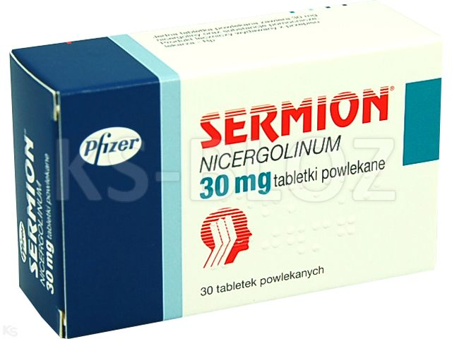 Sermion interakcje ulotka tabletki powlekane 0,03 g 30 tabl.