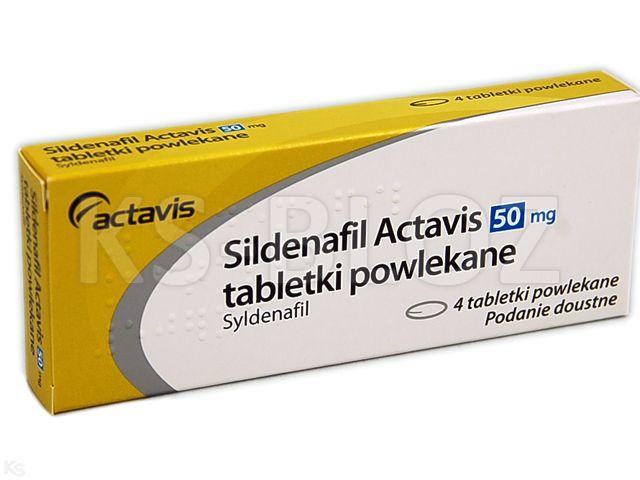 Sildenafil Actavis interakcje ulotka tabletki powlekane 0,05 g 4 tabl.