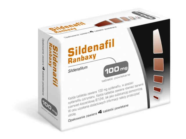 Sildenafil Ranbaxy interakcje ulotka tabletki powlekane 0,1 g 4 tabl.