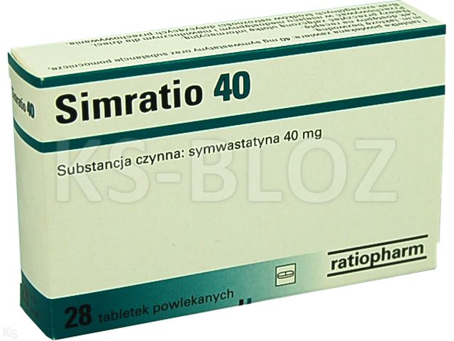Simratio 40 interakcje ulotka tabletki powlekane 0,04 g 28 tabl.