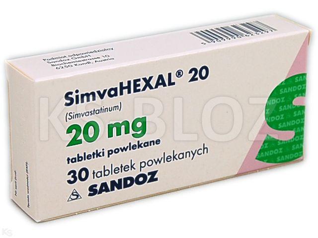 SimvaHexal 20 interakcje ulotka tabletki powlekane 0,02 g 30 tabl.