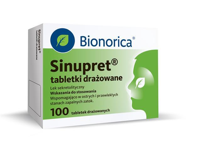 Sinupret interakcje ulotka tabletki drażowane  100 draż.