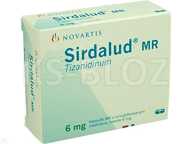 Sirdalud MR interakcje ulotka kapsułki o zmodyfikowanym uwalnianiu twarde 6 mg 10 kaps.