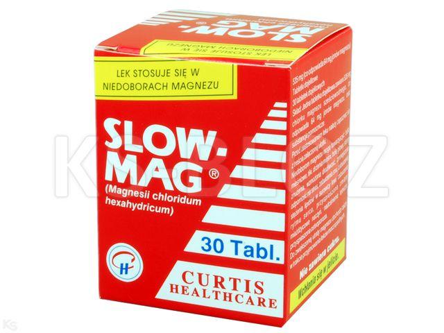 Slow-Mag interakcje ulotka tabletki dojelitowe 64 mg Mg2+ 30 tabl.