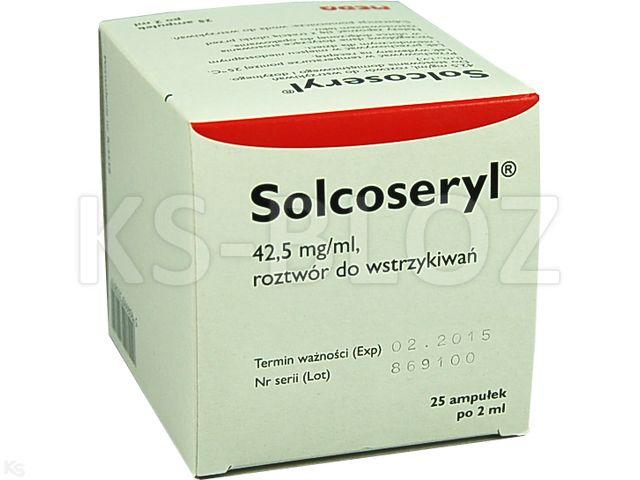 Solcoseryl interakcje ulotka roztwór do wstrzykiwań 0,0425 g/ml 25 amp. po 2 ml