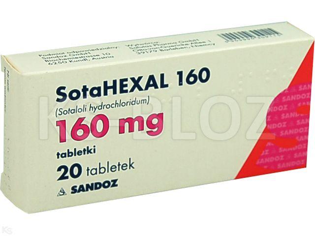 Sotahexal 160 interakcje ulotka tabletki 0,16 g 20 tabl. | 2 blist.po 10 szt.