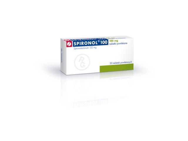 Spironol 100 interakcje ulotka tabletki powlekane 0,1 g 20 tabl.
