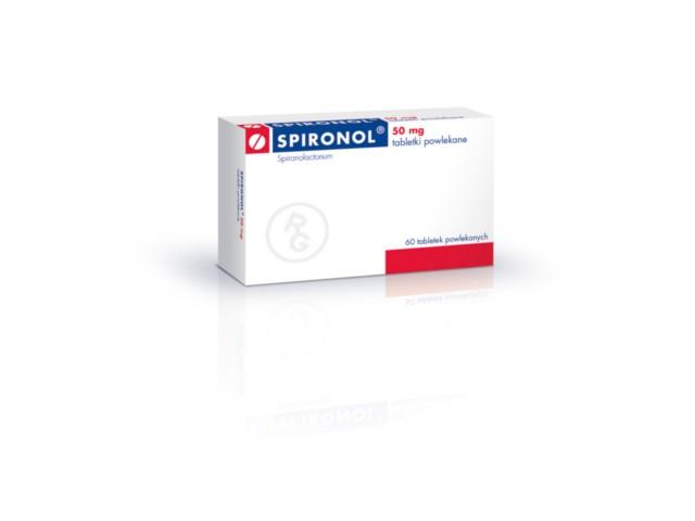 Spironol interakcje ulotka tabletki powlekane 0,05 g 60 tabl.