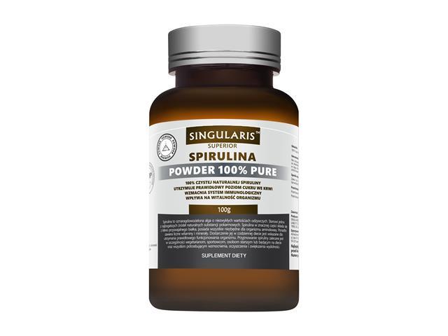 SPIRULINA POWDER 100g 100% PURE SINGULARIS interakcje ulotka proszek  100 g