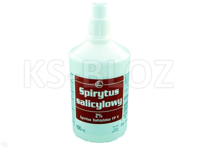 Spirytus salicylowy 2% interakcje ulotka roztwór na skórę  100 ml