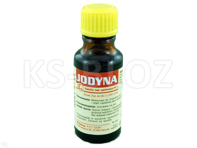 Spirytusowy Roztwór Jodu 3% interakcje ulotka roztwór na skórę  20 ml