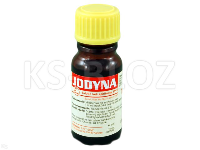 Spirytusowy Roztwór Jodu 3% interakcje ulotka roztwór na skórę  10 ml