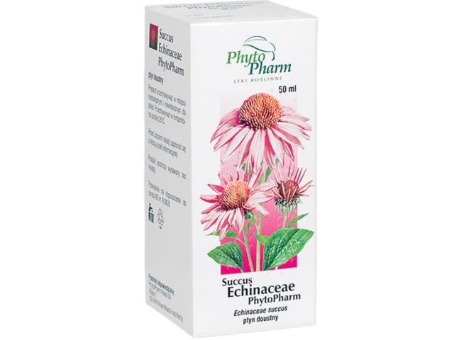 Succus Echinaceae Phytopharm interakcje ulotka płyn doustny  50 ml