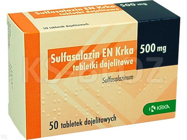 Sulfasalazin EN Krka interakcje ulotka tabletki dojelitowe 0,5 g 50 tabl.