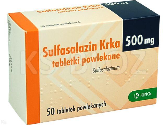 Sulfasalazin Krka interakcje ulotka tabletki powlekane 0,5 g 50 tabl.