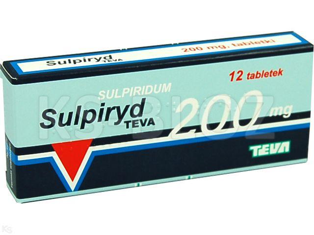 Sulpiryd TEVA interakcje ulotka tabletki 0,2 g 12 tabl.