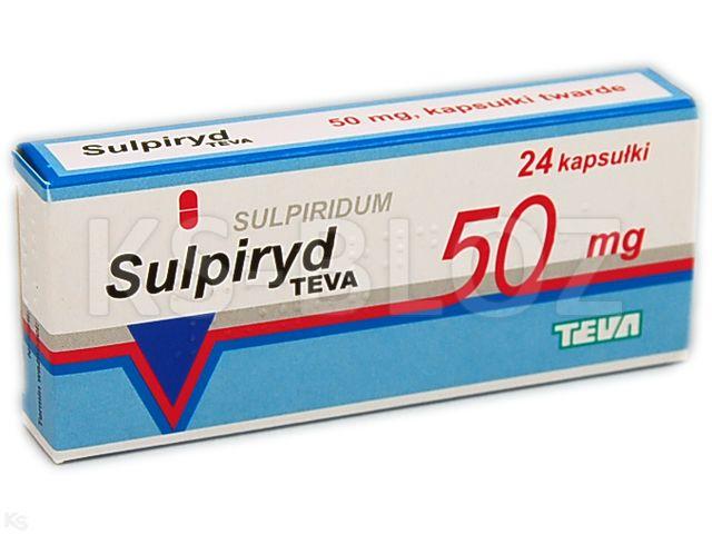 Sulpiryd TEVA interakcje ulotka kapsułki twarde 0,05 g 24 kaps.